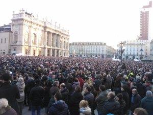 Grillo in Piazza Castello